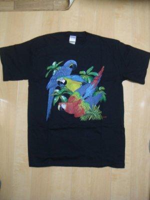 画像1: リアルTシャツ(コンゴウインコ)